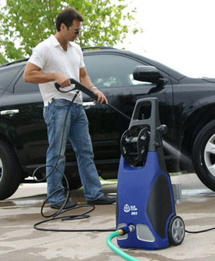 product image of AR Blue Clean AR383 1,900 PSI 1.5 GPM 14 Amp Electric Pressure Washer with Hose Reel