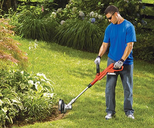 edging along plants, trees or flower beds