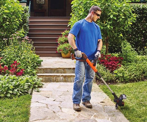 using the edger with guiding wheel