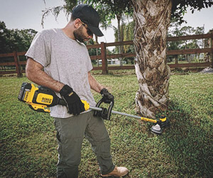 even for more precise trimming around trees