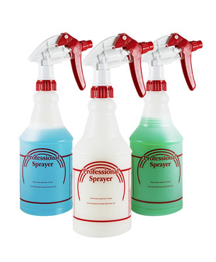translucent spray bottles by Houseables