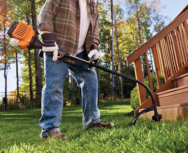 trimming grass on your garden using the Remington RM2510
