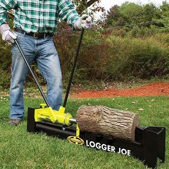 using the Logger Joe LJ10M to cut a log